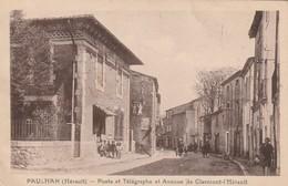 34/ Paulhan - Poste Et Telégraphe Et Avenue De Clermont L'Hérault - écrite En 1932 - Paulhan