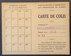 CARTE DE COLIS HELLEMMES-LILLE Sanitaire Du 331e Rgt D'Infanterie Prisonnier De Guerre STALAG IV A Elsterhorst - Marcophilie (Lettres)