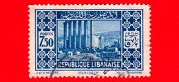 LIBANO - Usato - 1930 - Paesaggi - Baalbek - Tempio Del Sole - 7.50 - Libano