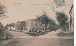 34/ Paulhan -  Avenue De La Gare Et De Pézénas - Carte Colorisée écrite En 1908 - Paulhan