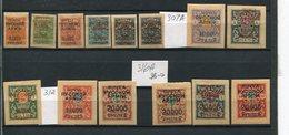 RUSSIA CIVIL WAR, GENERAL WRANGEL, YR 1921,SC 303//19,MH *,SHORT SET,HCV - Nuevos