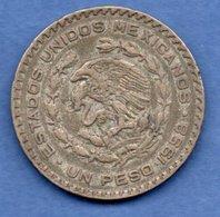 Mexique --  1 Peso 1958  -  Km # 459  -  état  TB+ - Mexique