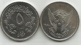 5 Qirsh Ghirsh 1980 High Grade - Soudan