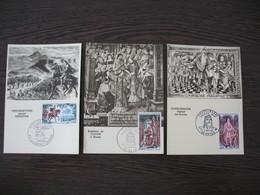 Carte Maximum     1966    N° 1495 à 1497    Grands Noms De L'Histoire - Cartes-Maximum