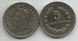 El Salvador 5 Centavos 1975. High Grade - El Salvador