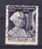 1949  DOMENICO CIMAROSA  USATO - 6. 1946-.. Repubblica