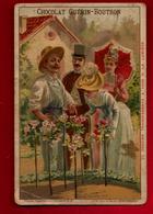 Chromo Chocolat Guérin Boutron N° 67 Jardin Fleurs Ombrelle ... - Dessin Transparent à La Lumière ==) Champignons - Guerin Boutron