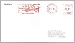 SOCIEDAD AGRICOLA DE VINIFICACION AGLYA - Aguila. Estagel 1991 - Vinos Y Alcoholes