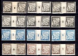 France Belle Collection De Taxe Type Duval Avec Millésimes Neufs * 1898/1920. Tous Différents. A Saisir! - Millésime