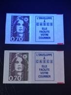 Timbres De Carnet Marianne De Briat 0.70fr. - Adhésifs (autocollants)