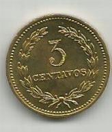 El Salvador 3 Centavos  1974. High Grade - Salvador