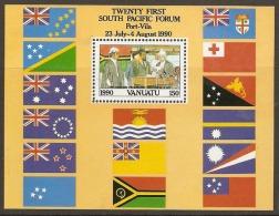 Vanuatu 1990  SG  MS 552  Independence  Miniature Sheet  Unmounted Mint - Vanuatu (1980-...)
