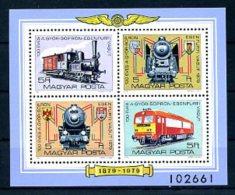 A17321)Eisenbahn: Ungarn Bl 139 A** - Eisenbahnen