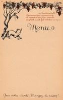"""Menu Vierge Années 1940. - Illustrateur Chaix - Renard. """"Pour Votre Santé.Mangez Du Raisin"""" - Menus"""