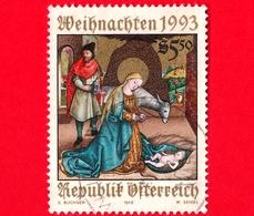 AUSTRIA - Usato - 1993 - Natale - Nascita Di Cristo Presso L'altare Di Krainburger - 5.50 - 1945-.... 2a Repubblica