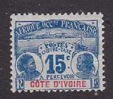 Ivory Coast, Scott #J3, Mint Hinged, Natives, Issued 1906 - Ivory Coast (1892-1944)