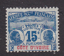 Ivory Coast, Scott #J3, Mint Hinged, Natives, Issued 1906 - Côte-d'Ivoire (1892-1944)