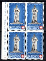 84/1500 - SVIZZERA 1940 , Pro Patria N. 353 : Quartina Integra *** MNH - Pro Patria