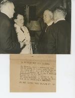 PHOTOGRAPHIE ORIGINALE FRANCE PRESSE - 1938 - M. HOOVER à BERLIN Avec Le MARECHAL GOERING - War, Military