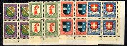 90/1500 - SVIZZERA 1926 , Pro Juventute Serie N. 222/225 : Quartina Integra  *** MNH - Ungebraucht