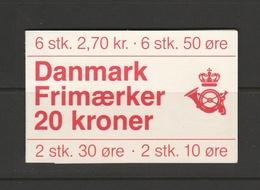 1984 20 KRONER BOOKLET H26 MNH** - Booklets