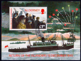ALDERNEY 1995 SG MSA84 Used M/s Return Of Islanders - Alderney