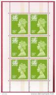 1992 GB Block Of 6 Wales Machin 18p Regionals UM / MNH SG W48 - Regional Issues