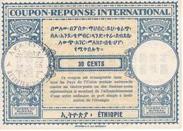 CUPON RESPUESTA INTERNACIONAL DE 30 CENTS DE ETHIOPIA DEL AÑO 1956 (COUPON RESPONSE ETHIOPIE) - Ethiopie