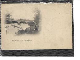 64-MAUBOURGUET-Une Vue Animée Du Pont De LECHEZ En 1900 - Maubourguet