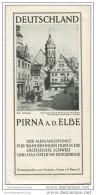 Pirna An Der Elbe 30er Jahre - Faltblatt Mit 6 Abbildungen - Saxe