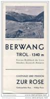 Berwang Tirol 1932 - Gasthaus Und Pension Zur Rose - Faltblatt Mit 4 Abbildungen - Oesterreich
