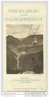 Von Salzburg In Das Salzkammergut 1930 - Faltblatt Mit 19 Abbildungen - Oesterreich