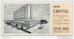 Gatteo Mare - Hotel Capitol Besitzer C. Manuzzi - Faltblatt Mit 6 Abbildungen - Italy
