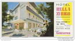 Cesenatico - Hotel Bella Zurigo Besitzer Aldo Bertozzi - Faltblatt Mit 5 Abbildungen - Italy