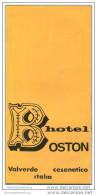 Cesenatico 50er Jahre - Hotel Bosten - Faltblatt Mit 5 Abbildungen - Italy