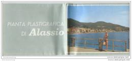 Alassio 1963 - Faltblatt Mit 3 Abbildungen - Grosser Übersichtsplan Signiert Pierovado - Stadtplan - Hotelverzeichnis - Italy