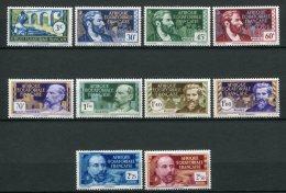 8437  A.E.F  N° 77/86 **  Série   Type De 1937-38     1939-40  TTB - Unused Stamps