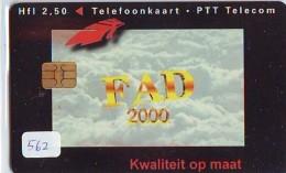 NEDERLAND CHIP TELEFOONKAART CRD 562 * FAD * Telecarte A PUCE PAYS-BAS ONGEBRUIKT MINT - Privé