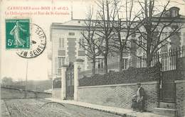 CARRIERES SOUS BOIS - La Châtaigneraie Et Rue De Saint Germain.. - Autres Communes
