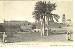 TUNISIE TOZEUR VUE PRISE EN DEHORS DE LA VILLE CACHET POSTAL TOZEUR SCAN RECTO VERSO - Túnez