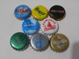 8 Different  Capsules From Turkey Turquie - Soda