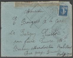 ALGERIE:  France N°140 Sur LSC Censurée De TLEMCEN De 1915 - Marcophilie (Lettres)