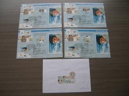 BELG.2004 3229 3230 3231 & 3232 Zegels Met Eerstedagstempel & Signé/getekend Door Luc Derycke (tekenaar) Op Uitnodiging - FDC
