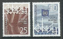 Yougoslavie YT N°979/980 Séisme De Skopje Neuf ** - Neufs
