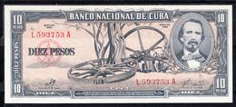 CUBA  1960    10 PESOS(Carlos Manuel De Cespedes) Con La Firma Del CHE. NUEVO SIN CIRCULAR  .B1214 - Cuba