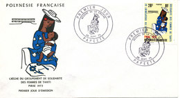 French Polynesia FDC 28-9-1973  With Cachet - FDC