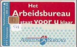 NEDERLAND CHIP TELEFOONKAART CRD 568 * ARBEIDSBUREAU  * Telecarte A PUCE PAYS-BAS ONGEBRUIKT MINT - Privé