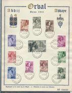 ORVAL: Les Moines Série N° 556/7  Obl: 01/07/1941 - ....-1951