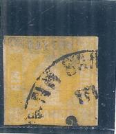 ALLEMAGNE -  BAYERN  N° 9 Côte 30€  1 Jaune Vif AMINCI - Bavière