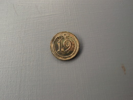 Bouton Plat  N° 19 , Petit Module. - Buttons